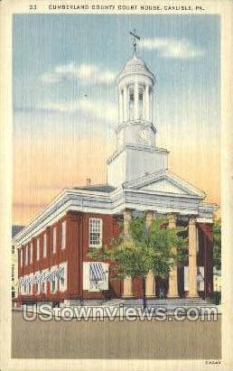 Cumberland County Court House - Carlisle, Pennsylvania PA Postcard