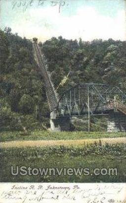Incline R.R. - Johnstown, Pennsylvania PA Postcard
