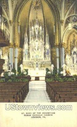 Roman Catholic Church - Lebanon, Pennsylvania PA Postcard
