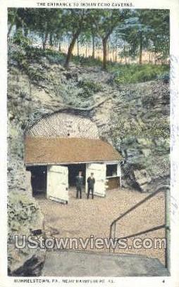 Indian Echo Caverns - Harrisburg, Pennsylvania PA Postcard