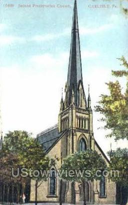 Second Presbyterian Church - Carlisle, Pennsylvania PA Postcard