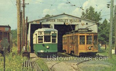 Arden Trolley Museum - Washington, Pennsylvania PA Postcard