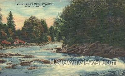 Broadhead's Creek - Pocono Mountains, Pennsylvania PA Postcard