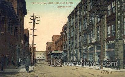 11th Ave. - Altoona, Pennsylvania PA Postcard