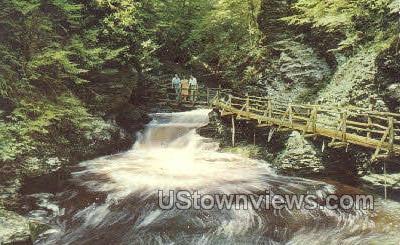 Laurel Glen - Bushkill Falls, Pennsylvania PA Postcard