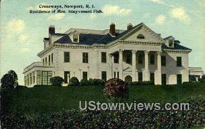 Residence of Mrs. Stuyvesant Fish - Newport, Rhode Island RI Postcard