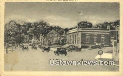 Post Office - East Greenwich, Rhode Island RI Postcard