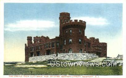 Castle, Cliff Walk - Newport, Rhode Island RI Postcard