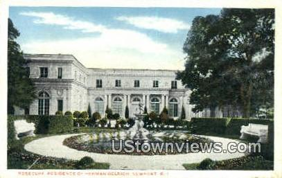 Rosecliff, Residence of Herman Delrich - Newport, Rhode Island RI Postcard