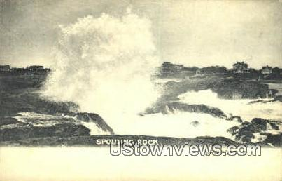Spouting Rock - Newport, Rhode Island RI Postcard