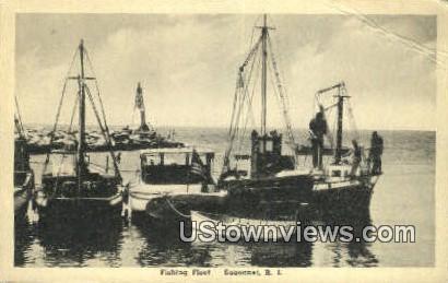 Fishing Fleet - Sakonnet, Rhode Island RI Postcard