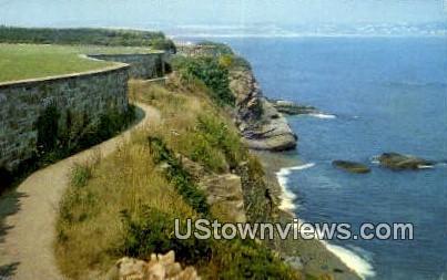 Cliff Walk - Newport, Rhode Island RI Postcard