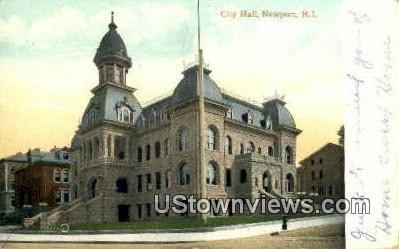 City Hall - Newport, Rhode Island RI Postcard