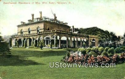 Beechwood, Residence of Mrs. WM. Astor - Newport, Rhode Island RI Postcard