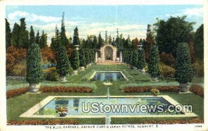 Blue Gardens, Arthur Curtis James Estate - Newport, Rhode Island RI Postcard