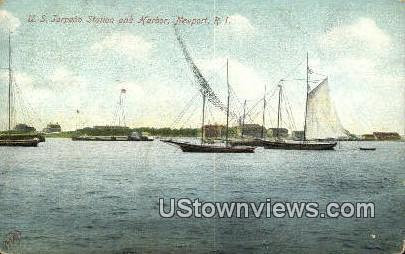 US Torpedo Station & Harbor - Newport, Rhode Island RI Postcard