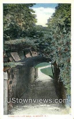 Tunnel, Cliff Walk - Newport, Rhode Island RI Postcard