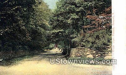 Lovers' Lane - Newport, Rhode Island RI Postcard