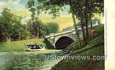 Bridge, Roger Williams Park - Providence, Rhode Island RI Postcard