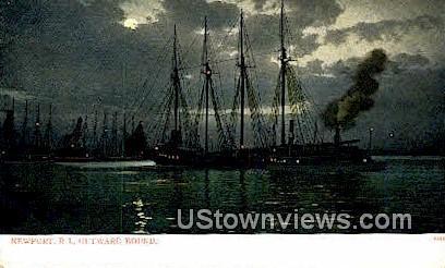 Outward Bound - Newport, Rhode Island RI Postcard