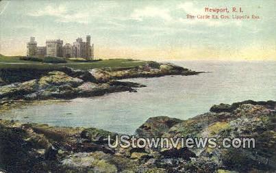 Castle Ex. Gov Lippet's Res - Newport, Rhode Island RI Postcard