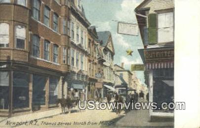Thames Street - Newport, Rhode Island RI Postcard