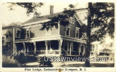 Pine Lodge - Newport, Rhode Island RI Postcard