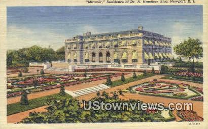 Residence of Dr. A. Hamilton Rice - Newport, Rhode Island RI Postcard