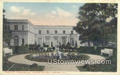 Roseclif, Residence of Herman Oelrich - Newport, Rhode Island RI Postcard