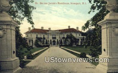 Dr. Barton Jacob's Residence - Newport, Rhode Island RI Postcard