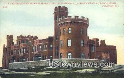 Norman Castle - Newport, Rhode Island RI Postcard