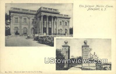 Belmont Marble House - Newport, Rhode Island RI Postcard