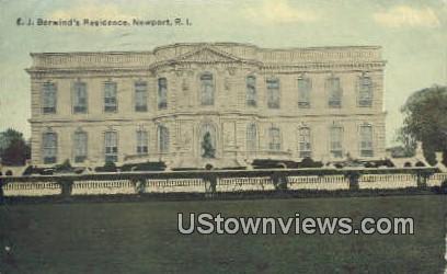 E.J. Berwind's Residence - Newport, Rhode Island RI Postcard