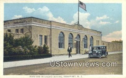 Private Bathing House - Newport, Rhode Island RI Postcard