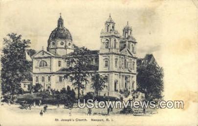 St. Joseph's Church - Newport, Rhode Island RI Postcard