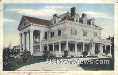 Beachmond, Residence of Benjamin Thaw - Newport, Rhode Island RI Postcard