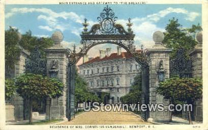 Residence of Mrs. Cornelius Vanderbilt - Newport, Rhode Island RI Postcard