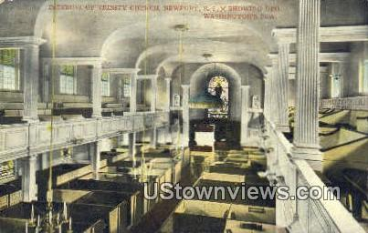 Trinity Church - Newport, Rhode Island RI Postcard