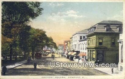 Newport Square - Rhode Island RI Postcard