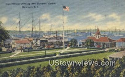 Gov Landing, Newport Harbor - Rhode Island RI Postcard