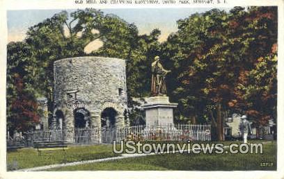 Old Mill, Touro Park - Newport, Rhode Island RI Postcard