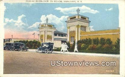 Public Entrance, Beach - Newport, Rhode Island RI Postcard