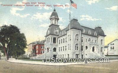 Roger High School - Newport, Rhode Island RI Postcard