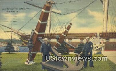 Anchors, Constellation - Newport, Rhode Island RI Postcard