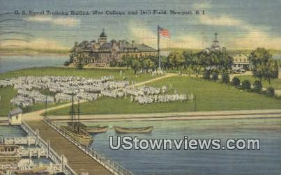 US Naval Training Station - Newport, Rhode Island RI Postcard