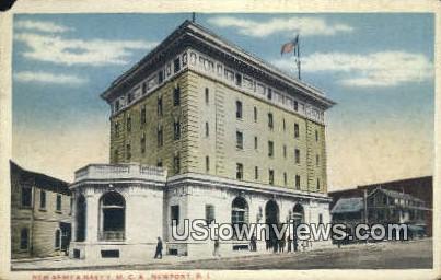 New Army & Navy YMCA - Newport, Rhode Island RI Postcard