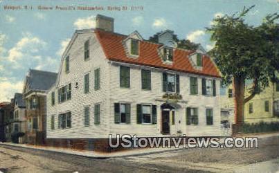 Gen Prescott's Headquarters - Newport, Rhode Island RI Postcard