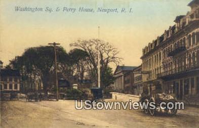 Washington Square - Newport, Rhode Island RI Postcard
