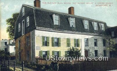 Old Gov Bull House - Newport, Rhode Island RI Postcard