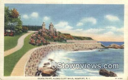 Ochre Point, Cliff Walk - Newport, Rhode Island RI Postcard